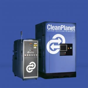 AlwaysClean Solvent Recyclers on blue background